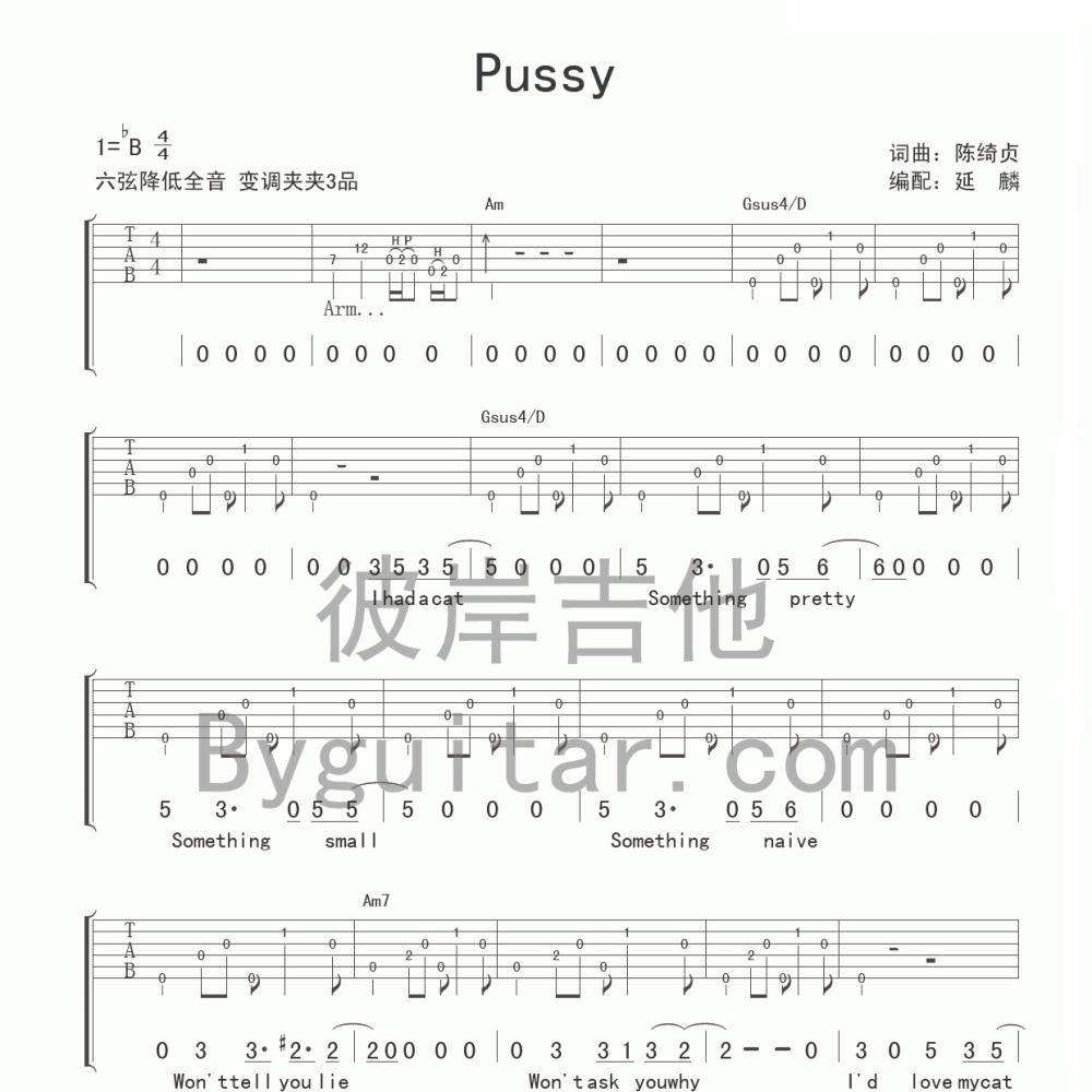 PUSSY吉他谱