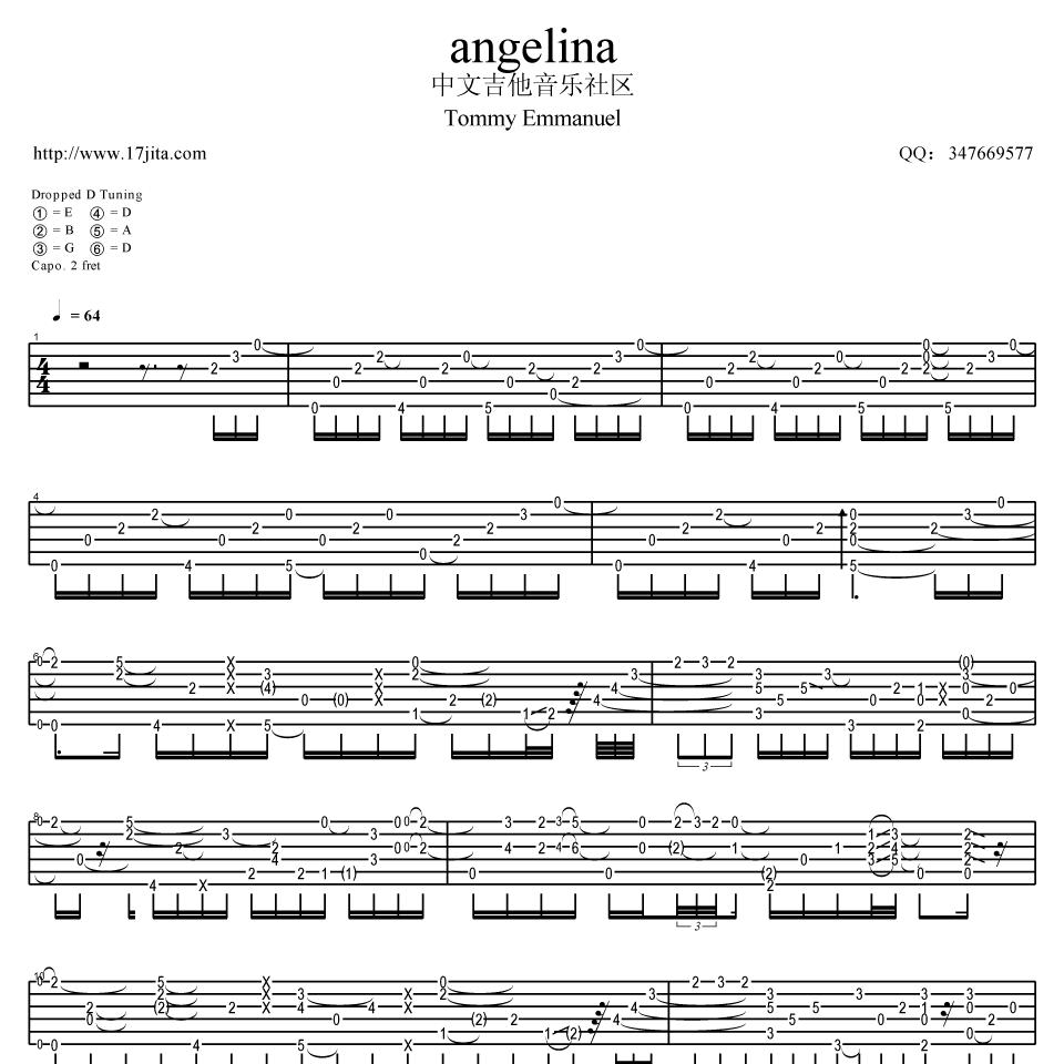 ANGELINA吉他谱